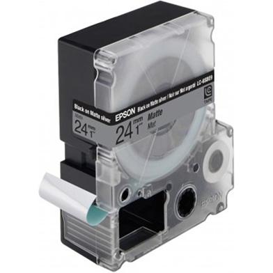 Epson LC-6SBE9 Black/Matt Silver 24mm (9m) tape