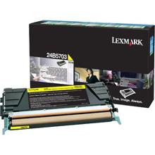 Lexmark 24B5703 Yellow Return Program Toner Cartridge (10,000 Pages)