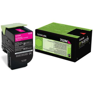 Lexmark 70C20M0 702M Magenta RP Toner Cartridge (1,000 Pages)