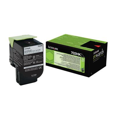 Lexmark 702HK Black High Cap RP Toner Cartridge (4,000 Pages)
