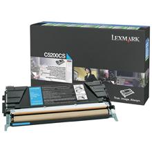 Lexmark C5200CS C5200CS Cyan Return Programme Toner Cartridge (1,500 Pages)