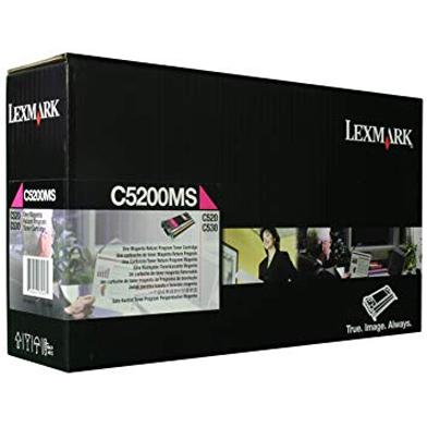 Lexmark C5200MS C5200MS Magenta Return Programme Toner Cartridge (1,500 Pages)