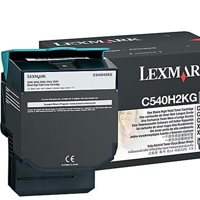 Lexmark C540H2KG C540H2KG Black High Yield Toner Cartridge (2,500 Pages)