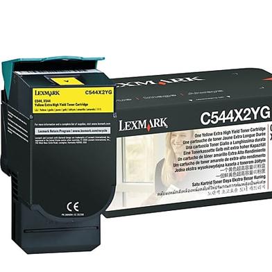 Lexmark C544X2YG C544X2YG Yellow Extra High Yield Toner Cartridge (4,000 Pages)