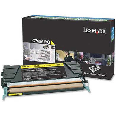 Lexmark C746A1YG Yellow Return Program Toner Cartridge (7,000 pages)