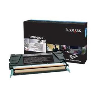 Lexmark C746H2KG C746H2KG Black High Yield Toner Cartridge (12,000 Pages)