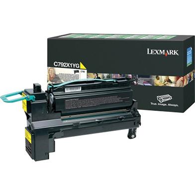 Lexmark C792X1YG Yellow Extra High-Cap Return Program Toner Cartridge (20,000 pages)