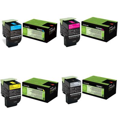 Lexmark  702H Toner Value Pack CMY (3k) K (4k)