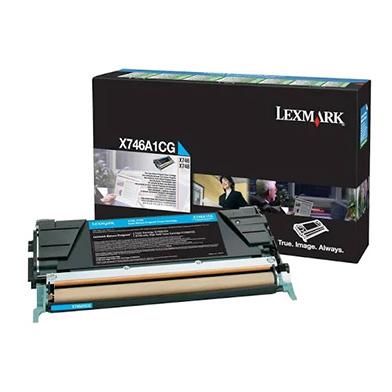Lexmark X746A1CG Cyan Return Program Toner Cartridge (7,000 pages)