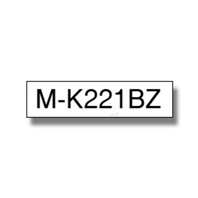 Brother MK221BZ MK-221BZ 9mm Labelling Tape (BLACK ON WHITE)