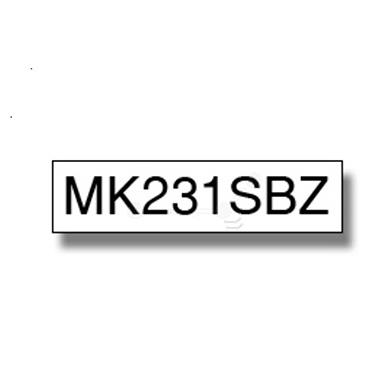 Brother MK231SBZ M-K231SBZ 12mm Labelling Tape (BLACK ON WHITE)