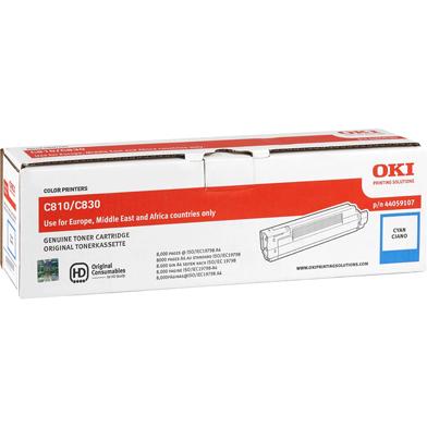 OKI 44059107 Cyan Toner Cartridge (8,000 Pages)