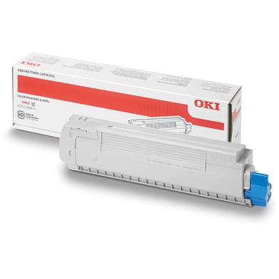 OKI 44059255 Cyan Hi-Cap Toner Cartridge (10,000 Pages)