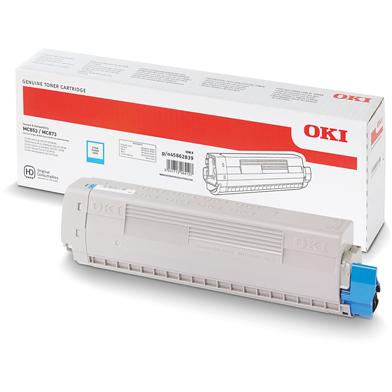 OKI 45862839 Cyan Toner Cartridge (7,300 Pages)