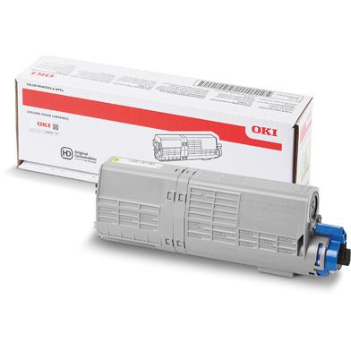 OKI 46490605 High Capacity Yellow Toner Cartridge (6,000 Pages)