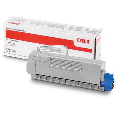OKI 46507507 Cyan Toner Cartridge (6,000 Pages)