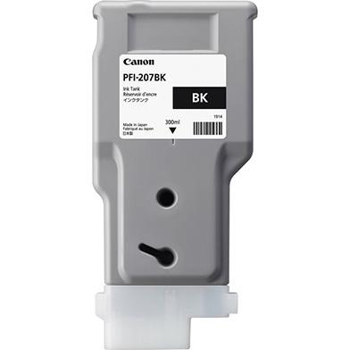 Canon 8789B001AA PFI-207BK Black Ink Cartridge (300ml)