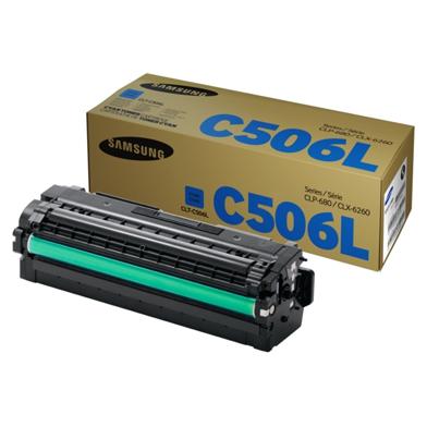 Samsung SU038A CLT-C506L Cyan Toner Cartridge (3,500 Pages)