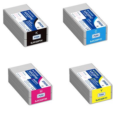 Epson TM-C3500CONPACK SJIC22P Rainbow Ink Cartridge Pack (33ml)