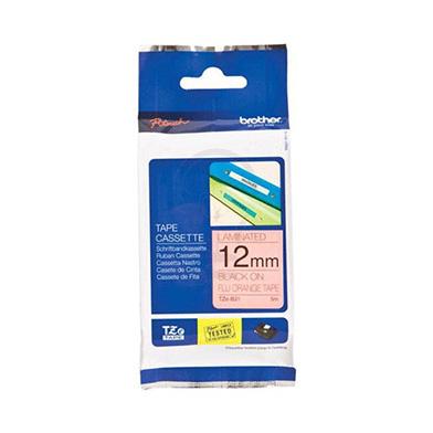 Brother TZB31 TZ-B31 12mm Laminated Labelling Tape (BLACK ON FLUORESCENT ORANGE)