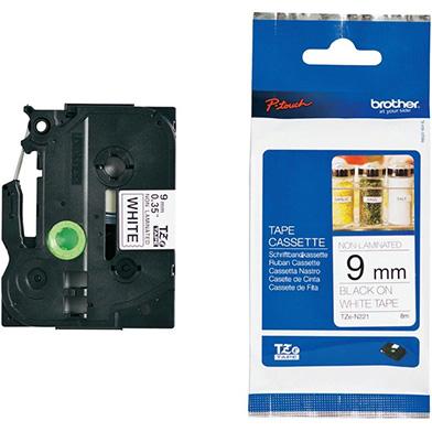 Brother TZEN221 TZe-N221 9mm Labelling Tape (BLACK ON WHITE)