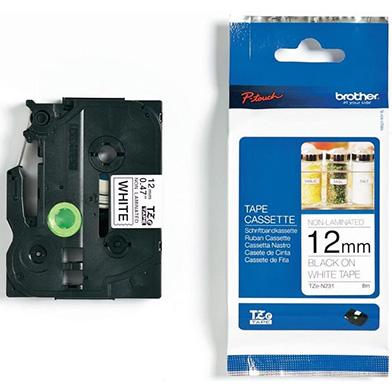 Brother TZEN231 TZe-N231 12mm Labelling Tape (BLACK ON WHITE)
