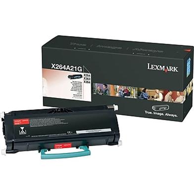 Lexmark X264A21G Black Toner Cartridge (3,500 Pages)