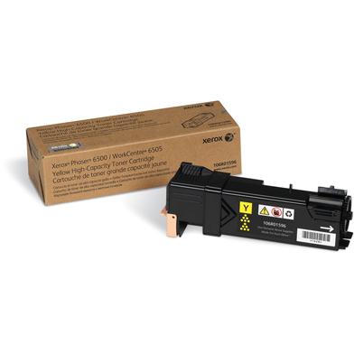 Xerox 106R01596 Hi-Cap Yellow Toner Cartridge (2,500 Pages)
