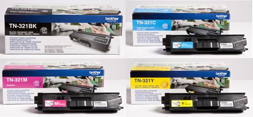 Brother  TN-321 Toner Rainbow Pack CMY(1.5k) K(2.5k)