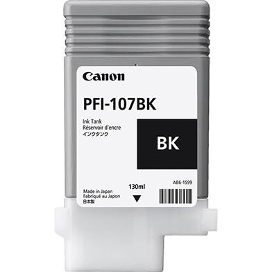 Canon 6705B001AA PFI-107BK Black Ink Cartridge (130ml)