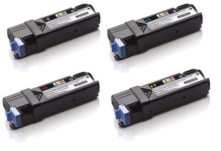 Dell  593-110H Hi-Cap Toner Rainbow Pack CMY (2.5k) + Black (3k)