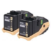 Epson C13S050609 Black Toner Cartridge x 2 (13,000 Pages)