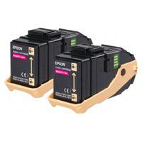 Epson C13S050607 Magenta Toner Cartridge x 2 (15,000 Pages)