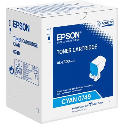 Epson C13S050749 Cyan Toner Cartridge (8,800 Pages)