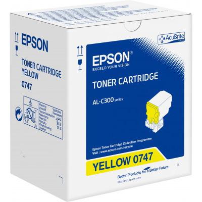 Epson C13S050747 Yellow Toner Cartridge (8,800 Pages)