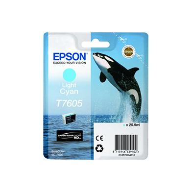 Epson C13T76054010 T7605 Light Cyan Ink Cartridge (25.9ml)