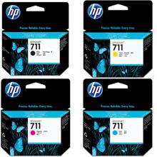 HP 711 CMYK Ink Cartridge Value Pack CMY (29ml) K (38ml)