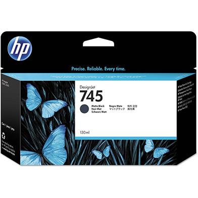 HP 745 Matte Black DesignJet Ink Cartridge 130ml
