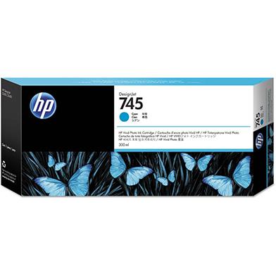 HP F9K03A 745 Cyan DesignJet Ink Cartridge 300ml