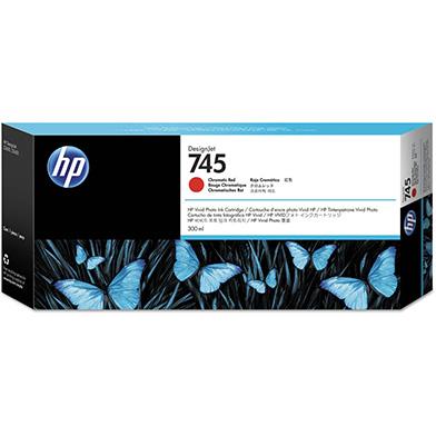 HP F9K06A 745 Chromatic Red DesignJet Ink Cartridge 300ml