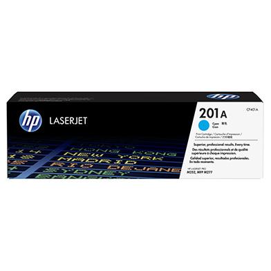 HP CF401A 201A Cyan Toner Cartridge (1,400 pages)