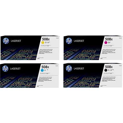 HP 508X Rainbow Toner Pack K(12.5k) CMY(9.5k)