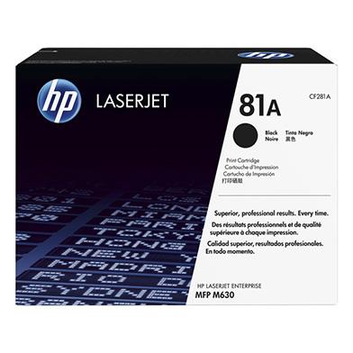 HP CF281A 81A Black Toner Cartridge (10,500 pages)
