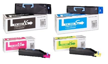 Kyocera  TK-880 Toner Rainbow Pack CMY(18k) K(25k)