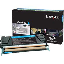 Lexmark X748H1CG Cyan High Yield Return Program Toner Cartridge (10,000 pages)