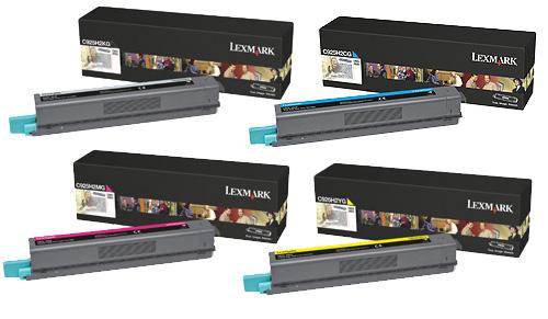 Lexmark  C925H2 Hi-Cap Toner Rainbow Pack CMY (7.5K) + Black (8.5K)