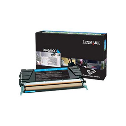Lexmark C746A1CG Cyan Return Program Toner Cartridge (7,000 pages)