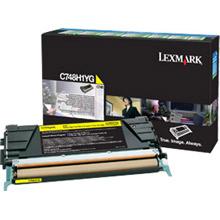 Lexmark C748H1YG Yellow High Yield Return Program Toner Cartridge (10,000 pages)