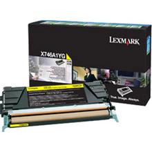 Lexmark X746A1YG Yellow Return Program Toner Cartridge (7,000 pages)