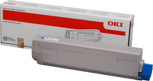 OKI 44844507 Cyan Toner Cartridges (10,000 Pages)